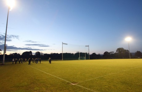The Donegal GAA Training Centre under the new floodlights. Photo: Donna El Assaad