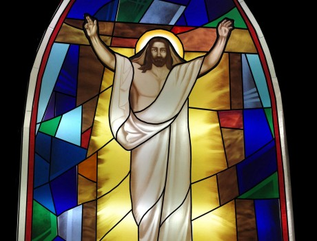 An artwork of one of the three new stained glass windows for St. Conal's Church, Portnoo. The windows were installed on Monday.