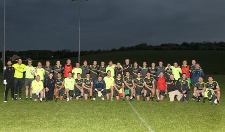 Shay Given pictured with the Donegal GAA Senior Squad after he joined them for training on Friday night. Photo: Donna El Assaad