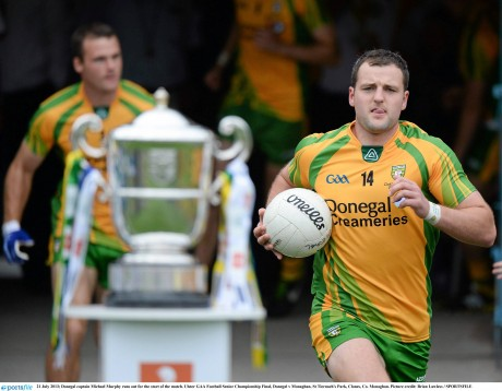 EYES ON THE PRIZE: Michael Murphy and Donegal have their eyes on recapturing the Anglo-Celt again when they face Monaghan in Sunday's Ulster final.