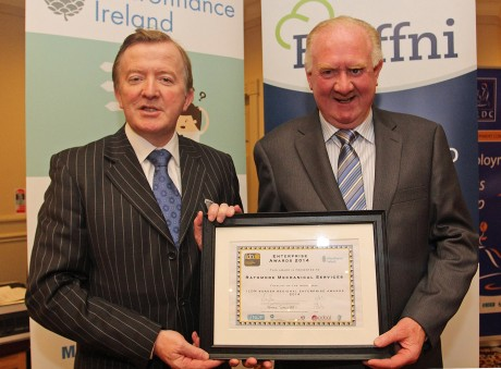 John Perry and TJ O'Mahoney from Rathmore Mechanical Services Ltd. Photo: Lorraine Teevan