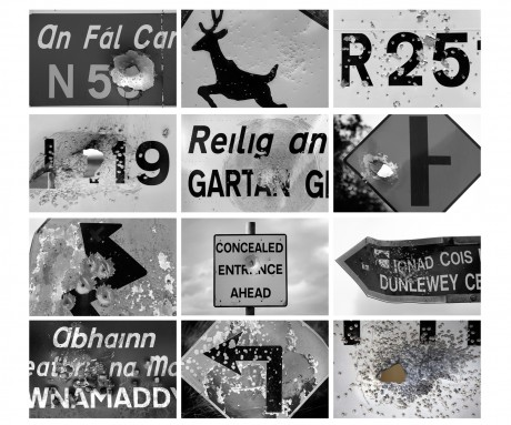 Shot signs by Declan Doherty.