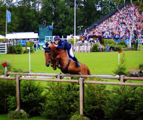 Daniel Coyle on board Zuidam at Hickstead.