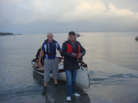 It was a long and winding road for Beatles Road Manager and head of Apple Records and Films, Tony Bramwell, that led him on Wednesday to the door of Ireland's only annual BeatlesFest in Moville. Here are Dr. Don McGinley with Tony Bramwell after being rowed from Greencastle to Moville on one of his previous visits.
