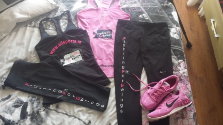 Nikki's new training gear sponsored by All Sports.
