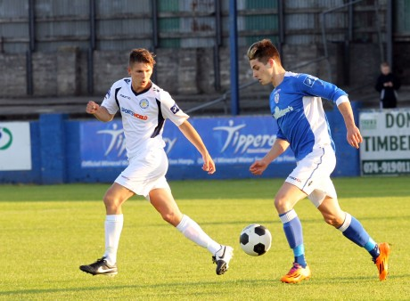 Ruairi Keating in action against Waterford United two weeks ago. The striker will not be returning to Harps.