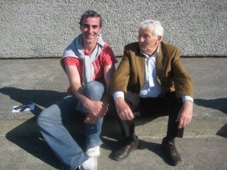 Connie McMahon with Donegal manager Jim McGuinness