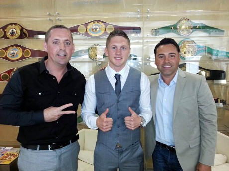 Conor Quigley, Jason Quigley and Oscar De La Hoya.