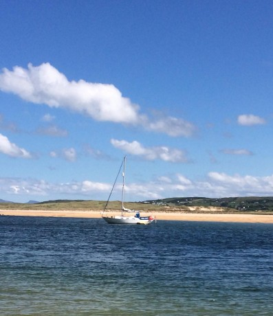 The Yacht in Sheephaven Bays whose skipper is feared missing.