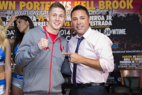 Jason Quigley with Oscar De La Hoya