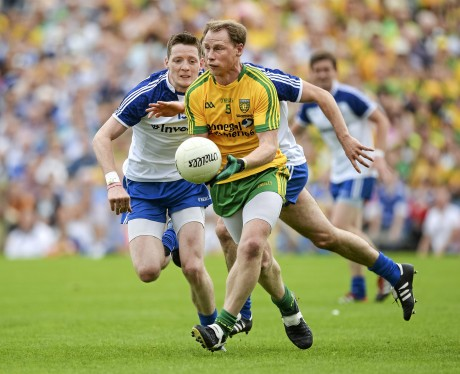 Anthony Thompson in action against Monaghan in the Ulster final