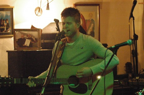 Callum Keaveny performing at Clubeo in Leo's Tavern, Meenaleck. Photo: Courtesy of Tim Jarvis