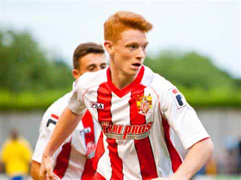 Dale Gorman who made his professional debut for Stevenage on Tuesday night.