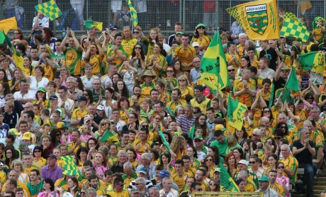 Donegal Supporters in jubilant mood at the Ulster final. Photo: Gary Foy