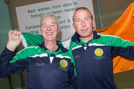 Donegal's Hugo Boyce and Kieran Murray at pre-departure Dublin airport