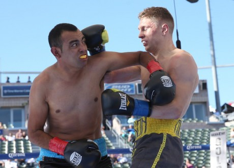 Jason Quigley on his way to defeating Fernando Najera in August