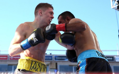 Jason Quigley gets stuck in against Fernando Najera last Saturday in Carson.