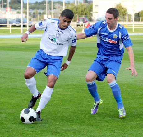 Jordan Loftus in action for Finn Harps against Waterford United two weeks ago.