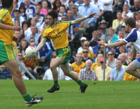 Ryan McHugh in action against Monaghan in the Ulster final. Photo: Gary Foy