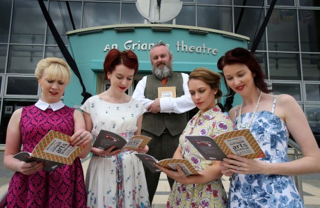 Earagail Arts Festival director Paul Browne with festival staff, Siobhan O'Connor, Dana Smith, Aisling Viera and Edel Corcoran at the launch of the festival programme.