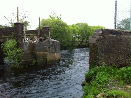 Mullantyboyle Bridge in Glenties which collapsed more than four years ago.