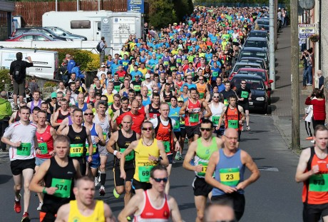 A section of the huge crowd that took part in the 2014 Donegal Marathon.