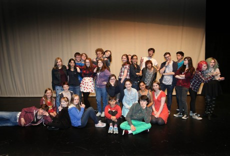 Participants during a Donegal Youth Theatre workshop at An Grianan Theatre, Letterkenny. Photos: Declan Doherty