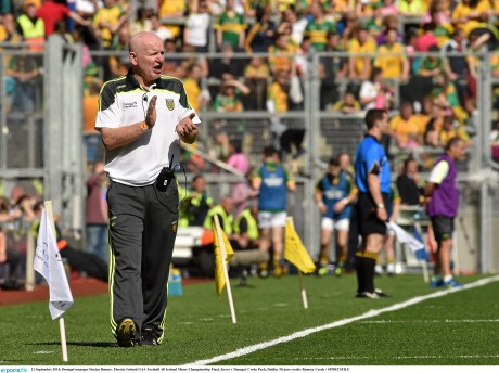 Donegal minor manager Declan Bonner