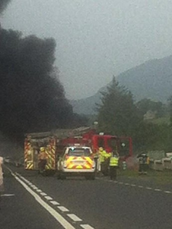 The crash scene outside Donegal town.