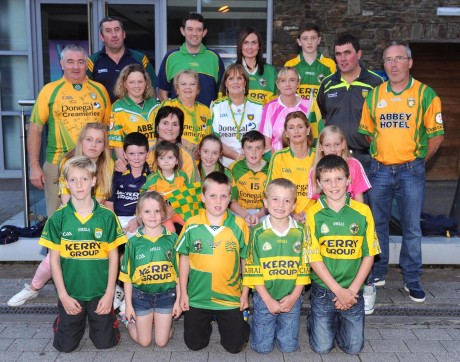 Members of the Donegal Kerry Association  and a selection of Kerry supporters at a gathering in Scotts Hotel, Killarney, on Tuesday night. Picture: Eamonn Keogh (MacMonagle, Killarney)