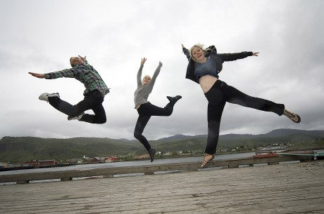 Aoife Toner, Letterkenny (right) with Audun Kvam (Norway) and Linja Steinunm (iceland).