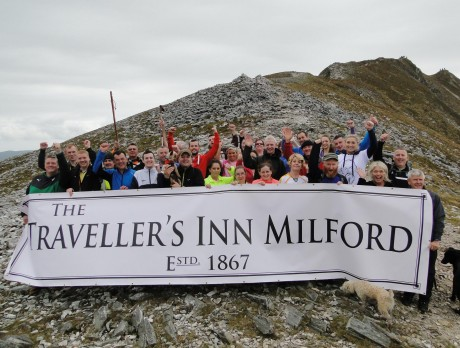 The Traveller's Inn group near the summit of Errigal.