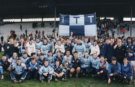 Jim McGuinness (back right) with the Tralee IT team in 1998