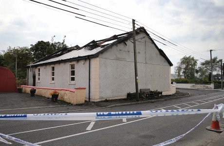 The Orange hall in Newtoncunningham which was gutted by fire early this morning. Photo: Declan Doherty