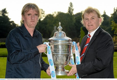 Finn Harps manager Ollie Horgan and St Patrick's Athletic manager Liam Buckley