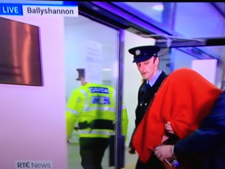 Julian Cuddihy being escorted into court. Picture: RTE