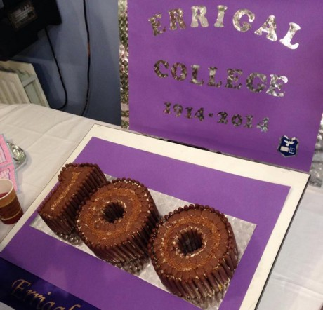A centenary cake baked by Ms Nora Bonner and the Home Economics Department. Photo: Donegal News