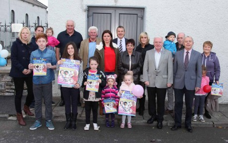 Family and friends of Gerry Singer Gallagher at the event launch at the Rock Hall, Ballyshannon on Sunday last.