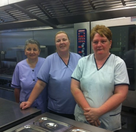 Delighted staff at the newly-refurbished cartering department at Lifford Community Hospital.
