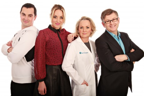 Operation Transformation 2013. (L-R)  Karl Henry, fitness expert, Presenter Kathryn Thomas, Dr. Eva Orsmond, medical doctor and Dr. Eddie Murphy, a Principle Clinical Psychologist with the HSE.