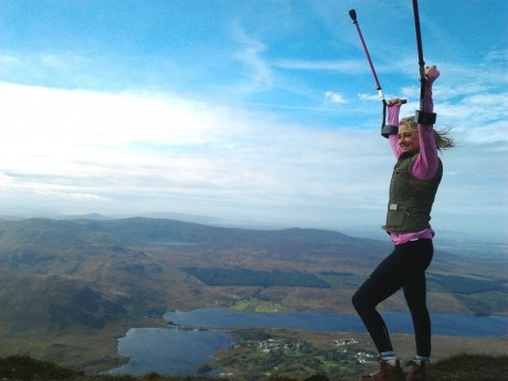 Nikki 'on top of the world' after climbing Errigal last weekend.