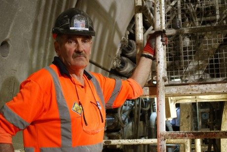 Tunnel Tigers ThÃr Donegal man P J Gallagher, a pit boss overseeing a team of Donegal tunnellers on London Crossrail.