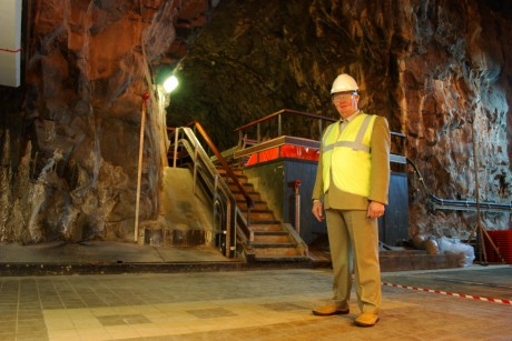 Retired Tunnel Tiger Gonna O'Donnell pictured in Cruachan Power Station, dubbed the 'Hallow Mountain'.