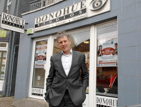 Photographer Dermot Donohue at his studio on the Port Road, Letterkenny.