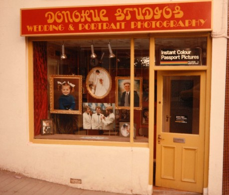 where it all began, Dermot's first studio on Main Street, Letterkenny.