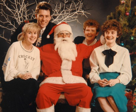 Staff at Donohue Studios during the Santa Promotion in the early 90's. Left to Right, Geraldine Cullen, Dermot Donohue, Bernadette Gallagher and Lyn Robinson (nee Moore).