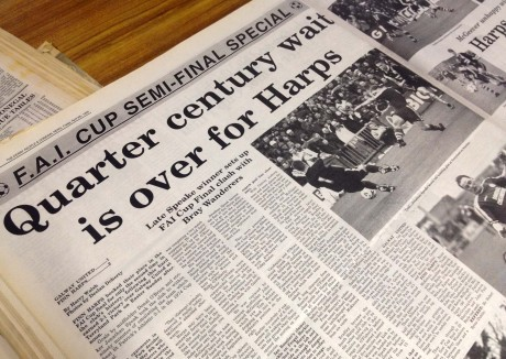 How the Donegal News reported on Finn Harps' FAI Cup semi-final win over Galway United in 1999