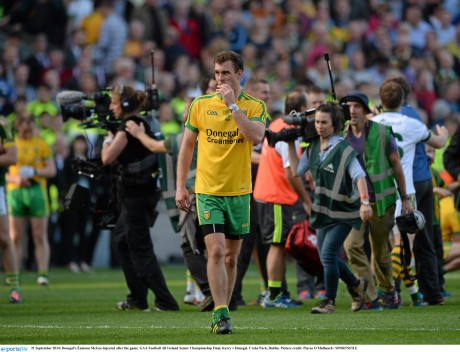 Eamon McGee after the 2014 All-Ireland final defeat by Kerry