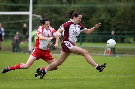 Termon's Nicole McLaughlin in action in the county final against Glenfin.