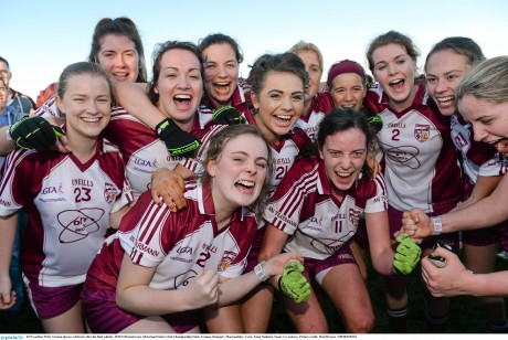 Termon players celebrate after the final whistle.